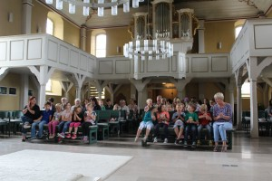 Andacht in der Kirche