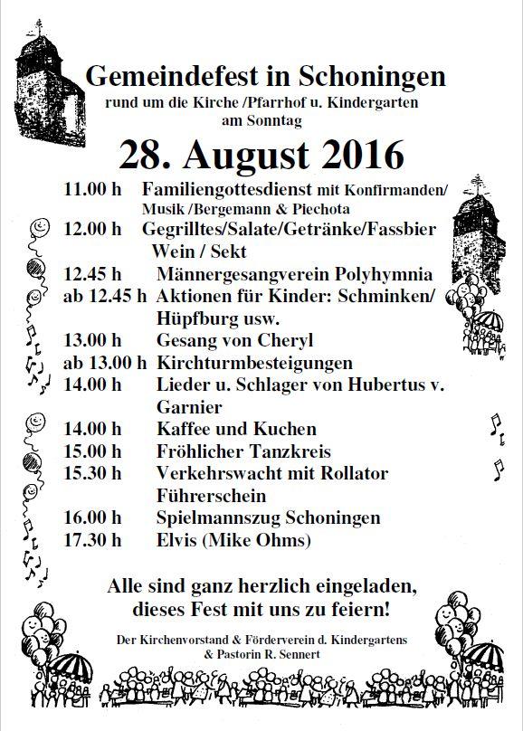 Gemeindefest Schoningen 2016